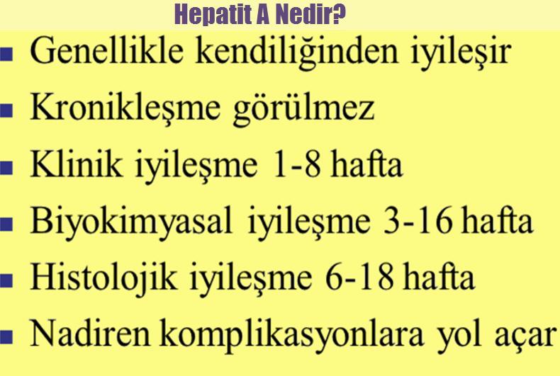 Hepatit A tedavisi
