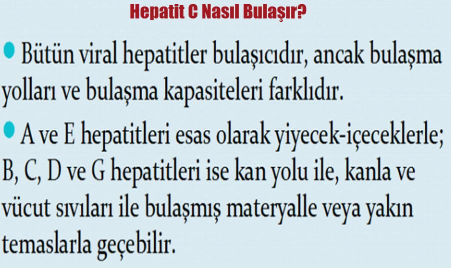 Hepatit C nasıl bulaşır