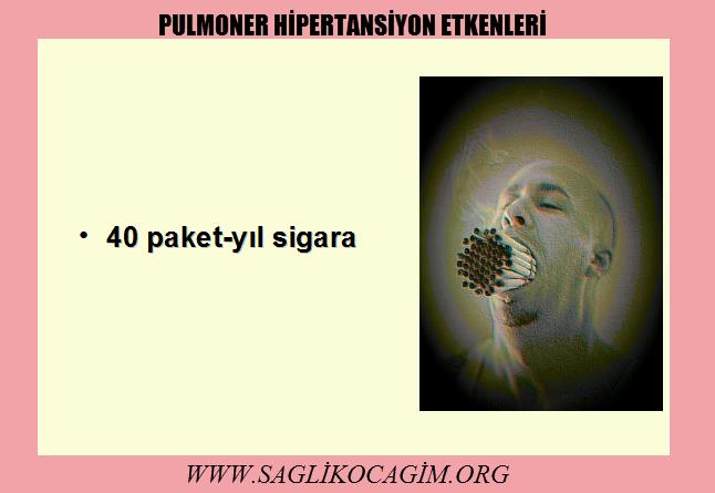 Pulmoner hipertansiyon neden olur