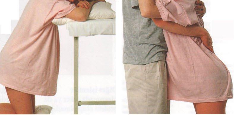 Doğum ağrıları girdiğinde rahatlatıcı pozisyonlar