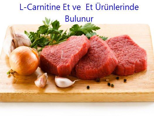 L Carnitine Et ve Et Ürünlerinde Bulunur