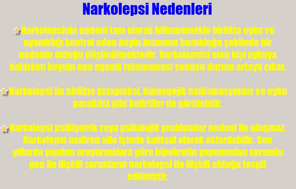 Narkolepsi neden olur