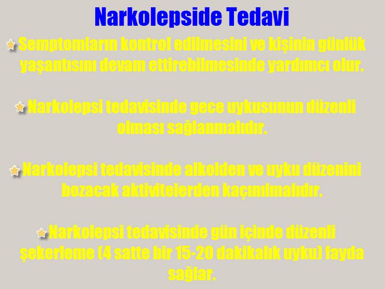 Narkolepsi tedavisi