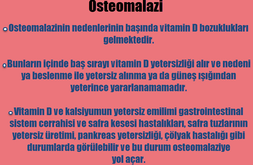 Osteomalazi nedir