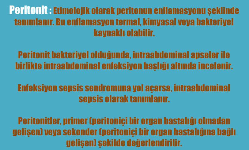 Peritonit tipleri
