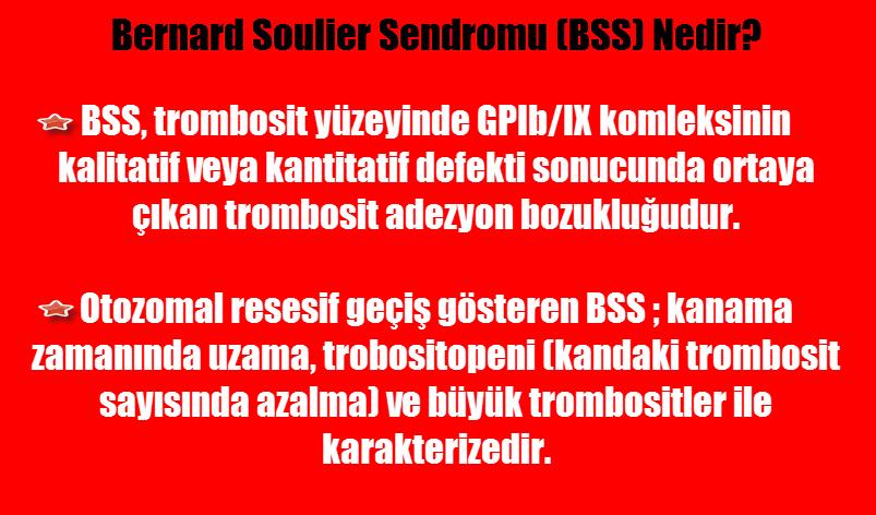 Bernard-soulier sendromu nedir