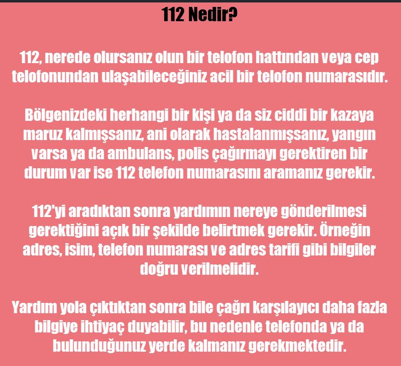 112 nedir