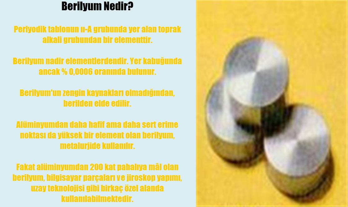 Berilyum nedir